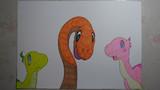 【ドラえもん のび太の新恐竜】ピー助、キュー、ミュー描いてみた。