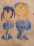チノちゃんの中学の制服を着たここあさん&リゼちゃん