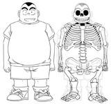 元太の骨格