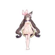 [GIFアニメ]千草はな あざとかわいいターン 黒背景アンチエイリアス【MMD→透過GIF】