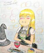 魔理沙「栗ごはんうんめーーー!!!」【色調調整版】