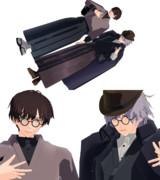 【MMD文アル】ゆず・粂開花衣装配布