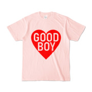 Tシャツ ライトピンク GOOD_BOY_HEART