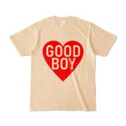 Tシャツ ナチュラル GOOD_BOY_HEART
