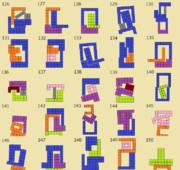 ニコニコタワー ブロックの組み合わせ例(126~150)