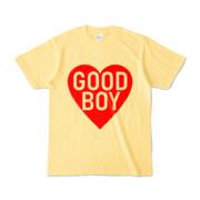 Tシャツ ライトイエロー GOOD_BOY_HEART