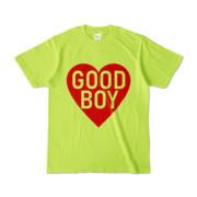 Tシャツ ライトグリーン GOOD_BOY_HEART
