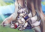 ラフィーと狐の枕