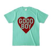 Tシャツ アイスグリーン GOOD_BOY_HEART
