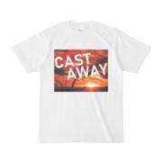 Tシャツ ホワイト CAST_AWAY_SUNRISE