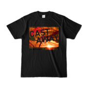Tシャツ ブラック CAST_AWAY_SUNRISE