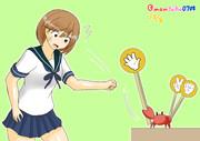 朧VS蟹のじゃんけん大会
