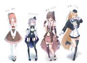 アイドル部 新衣装 4人