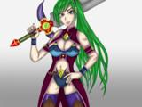 緑髪の女戦士