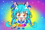 銀河に光る虹色のスペクトル!ハムスターキュアコスモ!!