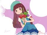 薔薇のブーケとメルシーさん