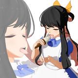 【第1回MMDセクシー静画祭】長波サマに可愛い服着せてソフトクリーム舐めてもらいたい