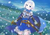 青の少女剣士。
