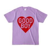 Tシャツ ライトパープル GOOD_BOY_HEART