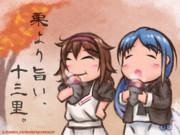 【艦これ】秋深し、芋蒸し【五月雨/白露】
