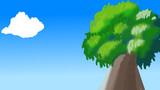 大木と青空と雲
