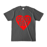 Tシャツ チャコール GOOD_BOY_HEART