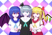 【Blender】レミフラみょん(制服)【東方】