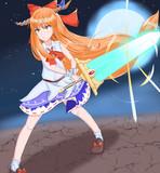 聖剣「月」を装備するSIK