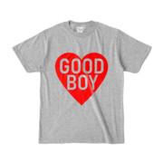 Tシャツ 杢グレー GOOD_BOY_HEART