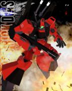 【MMDガンダム】リック・ディアス クワトロ機 MG箱絵風なポーズとエフェクトの練習