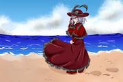 浜辺の衣玖さん