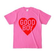 Tシャツ ピンク GOOD_BOY_HEART