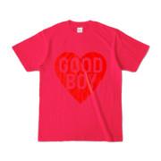 Tシャツ ホットピンク GOOD_BOY_HEART