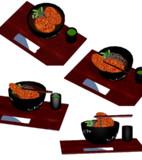 【MMD】例のコロッケ蕎麦っぽいの【アクセサリー配布】