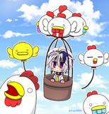 鶏風船と花ちゃん