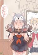 提督との交渉で夕立のハロウィン衣装を着る平戸