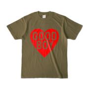 Tシャツ オリーブ GOOD_BOY_HEART