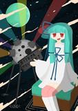 星を映して見る葵ちゃん