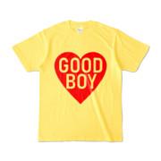 Tシャツ イエロー GOOD_BOY_HEART