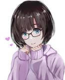 萌え袖眼鏡っ娘