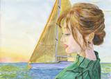朝焼けに帆を上げて