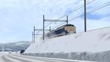 雪路を走る583系