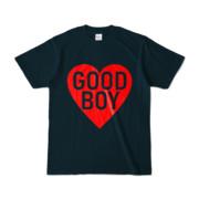 Tシャツ ネイビー GOOD_BOY_HEART