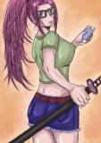 スマホ女剣士
