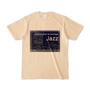 Tシャツ ナチュラル Jazz_Night_F