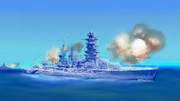 砲撃(練習)‗海原