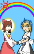 虹を作る高気圧ガールと高湿度ガール