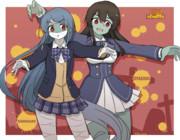 五月雨ちゃん&親潮さん(Halloween mode)