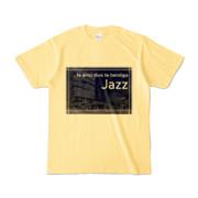 Tシャツ ライトイエロー Jazz_Night_F