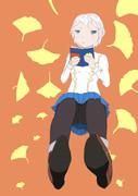 読書の秋美少女